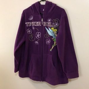 """Authentic """"Tinkerbell"""" Purple Embroidered Hoodie"""